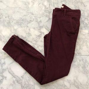 ANN TAYLOR LOFT MAROON PANTS